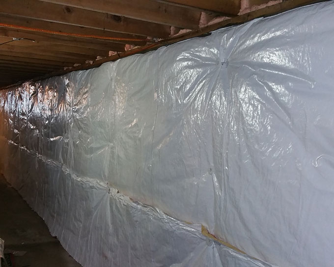 home energy insulated basement walls